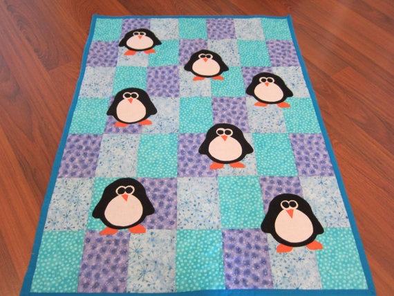 Baby penguin blanket!! Crochet baby boy Pinterest