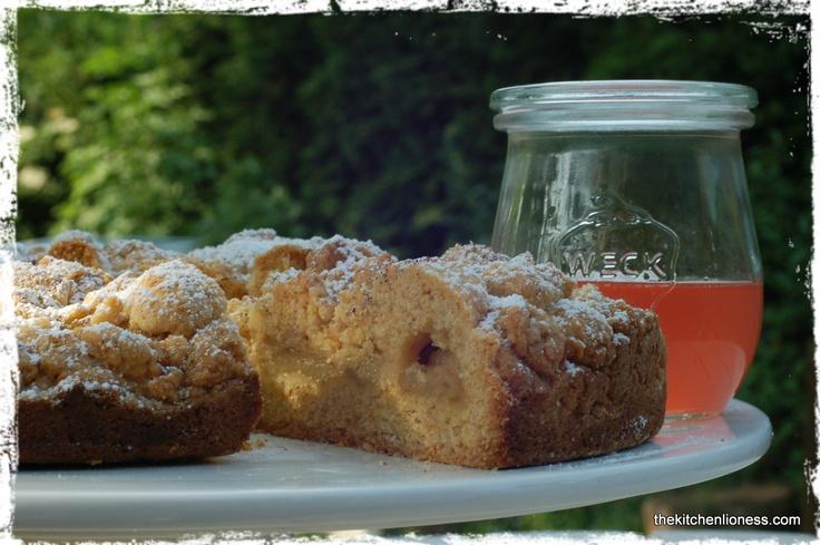 Rhubarb Cinnamon Polenta Cake from Nigel Slater's Ripe