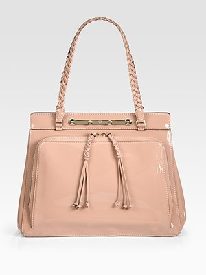 Valentino Demetra Patent Leather Top Handle Bag
