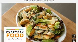 Crispy Chicken and Apple Salad Videos | Healthy Chicken Recipes | Pin ...