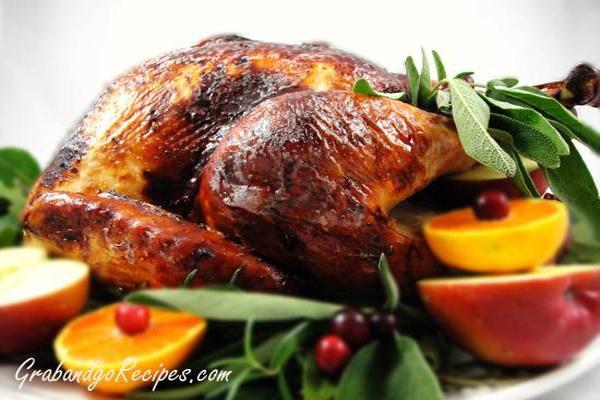 brined turkey three herb turkey broth easy herb rubbed roast turkey ...