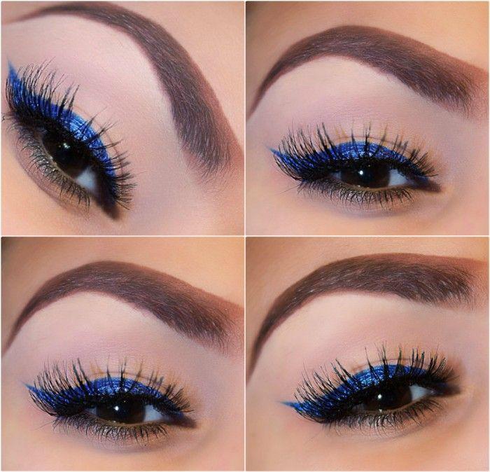 Extreme Blue Makeup Look Wedding Ideas Pinterest