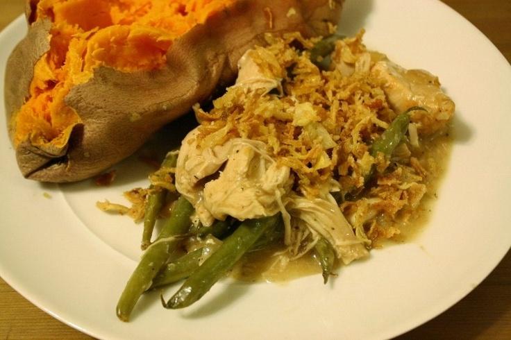 chicken and green bean casserole | Dinner ideas | Pinterest