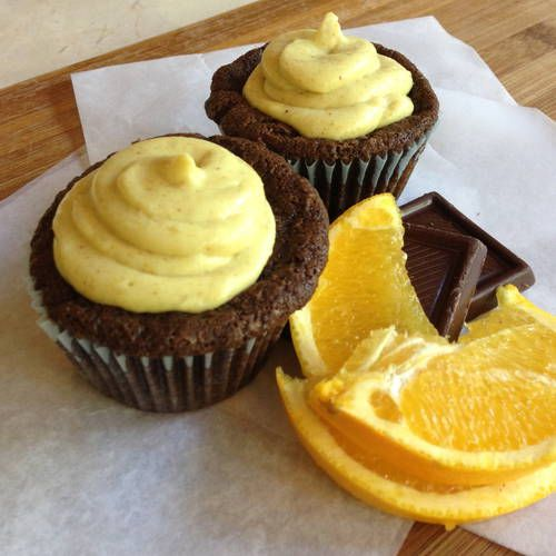 Chocolate Orange Cupcakes with Curried Cream Cheese Frosting #vegan # ...