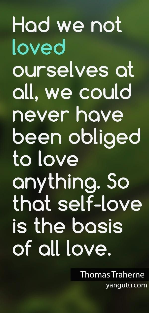 Self love quote. Endless Love Pinterest