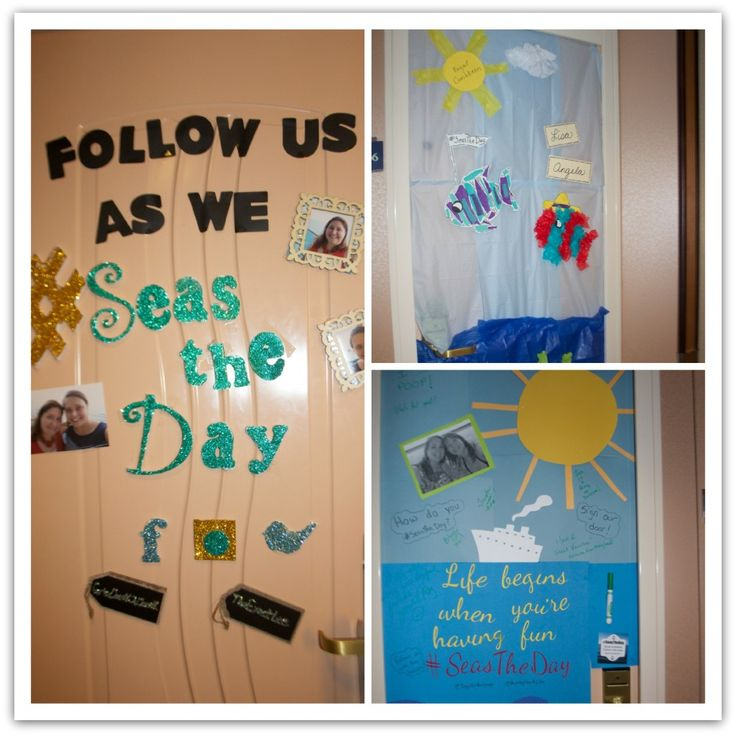 10 Ideas for Decorating your Cruise Cabin Door #SeasTheDay - Virtually ...