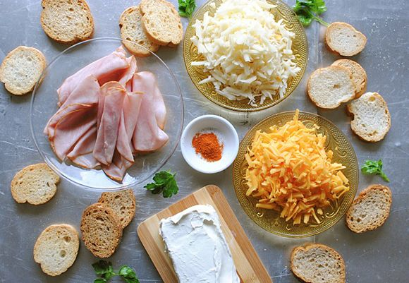 Ingredients for Hot Ham and Cheese Dip