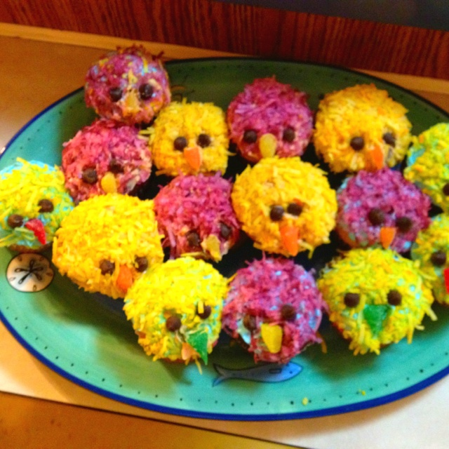 Easter Chick Cupcakes Recipes Dining Pinterest