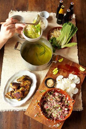 green curry, crispy chicken, kimchee slaw, rice noodles   Jamie Oliver ...