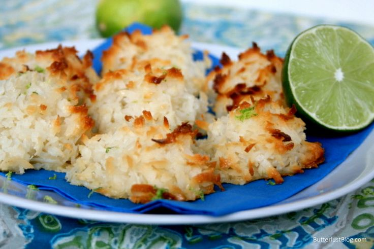 Coconut Lime Macaroons....my two favorites together. Must try.