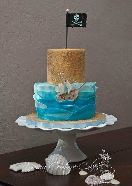 Pirate Baby Shower cake Yuma AZ by Yuma Couture Cakes, via Flickr ...