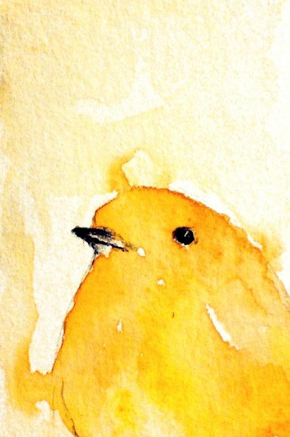 Yellow bird Painting | aRt I AdMirE | Pinterest