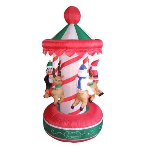 ... Christmas Carousel Lighted Yard Art Decoration: Christmas Decor