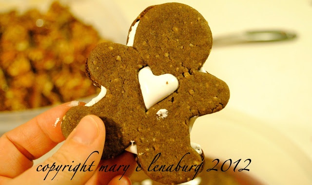 """Hot Chocolate Linzer Cookies via this blog, """"Passionate Perseverance""""."""
