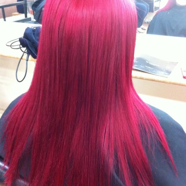 Vibrant Redviolet Color  Hair  Pinterest