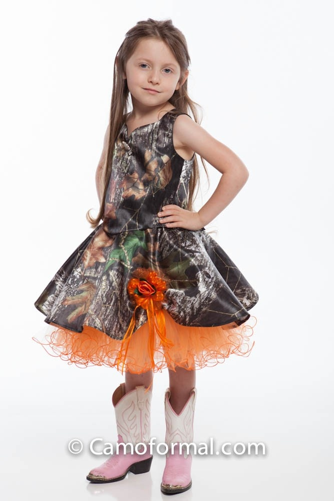 flower girl dress country camo rustic wedding ideas