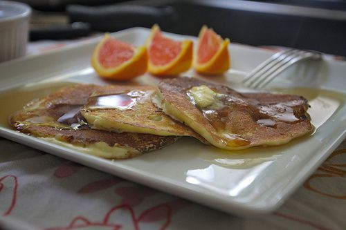 Orange Ricotta Pancakes | Pancakes are the bomb. | Pinterest