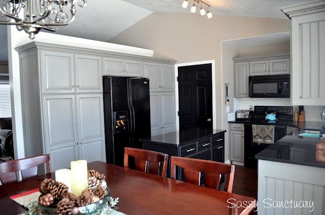 grey glazed cabinets  In the Kitchen  Pinterest