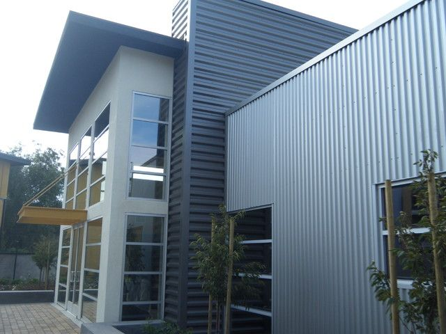 Corrugated metal siding ideas wedding venue pinterest for Contemporary exterior siding ideas