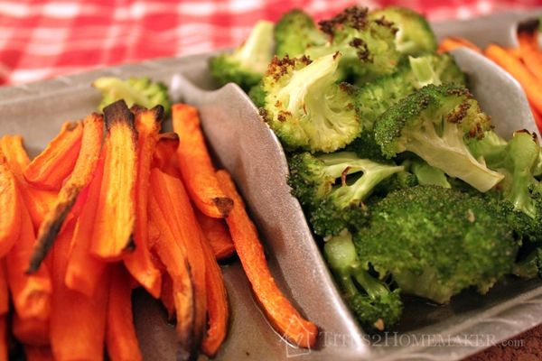 Roasted Broccoli And Carrots Recipe — Dishmaps