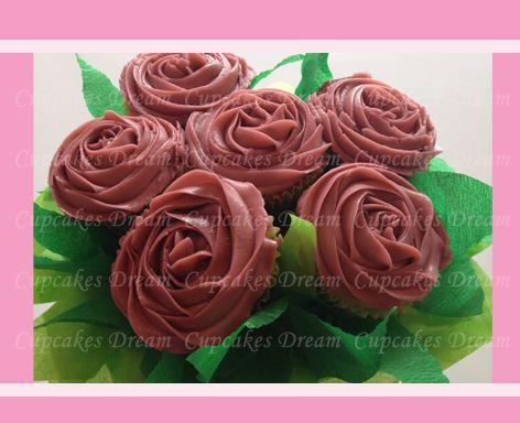Deep Rose cupcakes | Cup Cakes - CupCake Wife | Pinterest