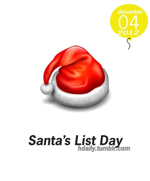 Santa's List Day | Get on the Calendar | Pinterest
