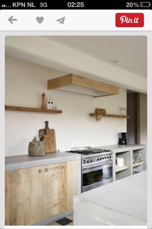 Keuken Beton Blad : Keuken beton blad Kitchen Pinterest