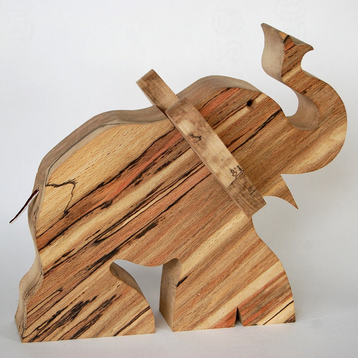 cool wood elephant made of spalted beech things i 39 d love to make. Black Bedroom Furniture Sets. Home Design Ideas
