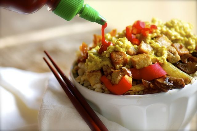 Coconut Ginger Tofu With Rice via @Marly | Namely Marly