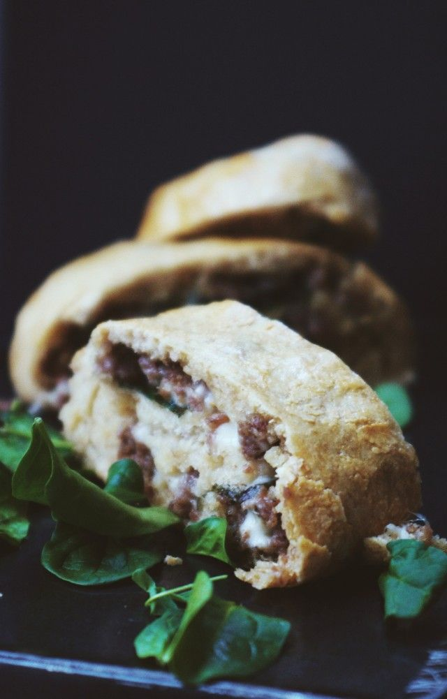 Spinach and Sausage Stromboli | for my family | Pinterest
