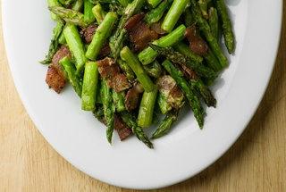Mustard Bacon Asparagus — Punchfork | Vegetable dishes | Pinterest