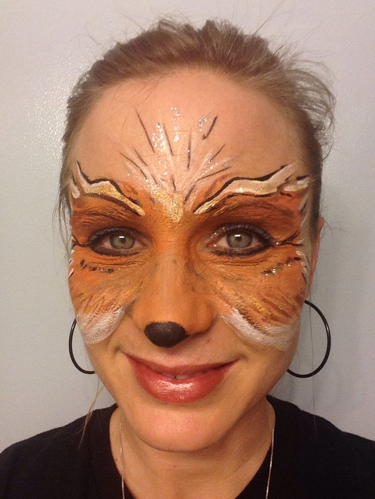 Face Painting Fox Mask MyFace Pinterest