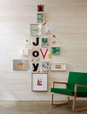 クリスマスツリー壁デコ