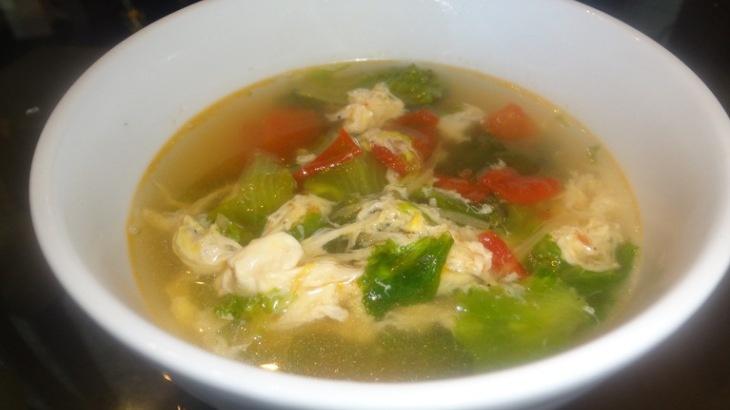 Lettuce Tomato and Egg Drop Soup | Super Soups | Pinterest