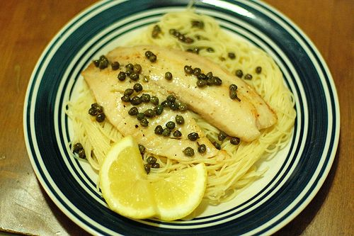 Tilapia Piccata - Love chicken piccata, but I have a bunch of tilapia ...