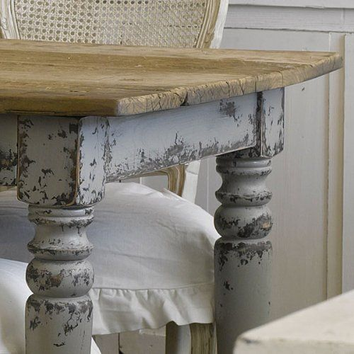 Distressed Gray Table Kitchen Tables Pinterest