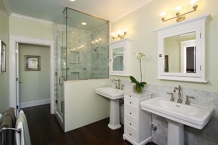 Seafoam green luxury bathrooms pinterest for Seafoam green bathroom ideas