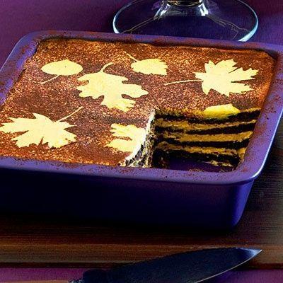 No-Cook Pumpkin Chocolate Icebox Pie! Recipe: http://ow.ly/e5qTx
