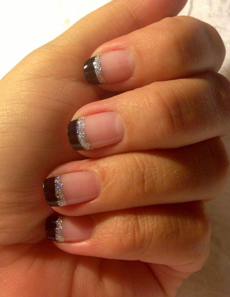 Oxblood gel polish on short almond shape.   Nails   Pinterest   Hair ...