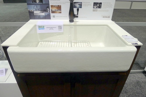 Self Trimming Farmhouse Sink : Kohler?s new Top-Mount Self-Trimming Apron Front Sink. It can easily ...