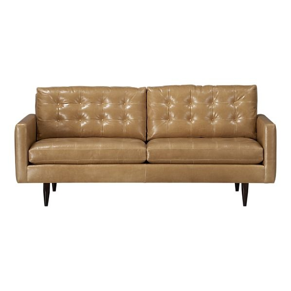 Crate and Barrel Petrie Sofa  Leather Couches  Pinterest
