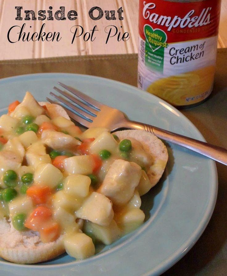 Inside Out Chicken Pot Pie Recipe #Labels4Edu #shop