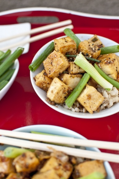 black pepper tofu. | Things to Eat | Pinterest