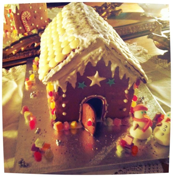 Homemade Gingerbread House   food & drinks   Pinterest