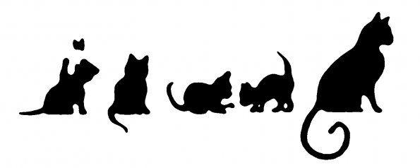 Трафареты для стен на кошки своими руками 920