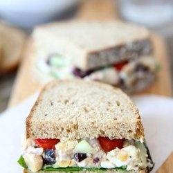 Smashed Chickpea Greek Salad Sandwich — Punchfork