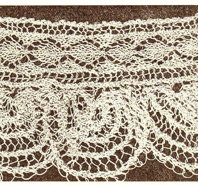 Knitting Pattern Lace Edging : antique knitted shell lace edging knit & crochet Pinterest