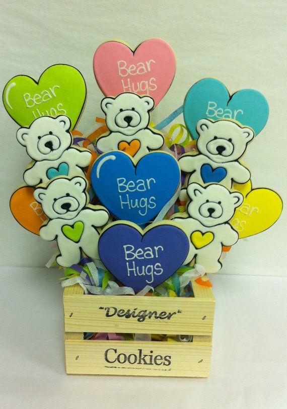 Bear Hugs Cookie Crate by ClawsonCookies on Etsy, $39.00