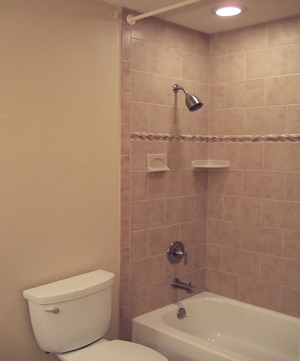 shower hoizontal rectangle tile | Bathroom Reno ideas | Pinterest
