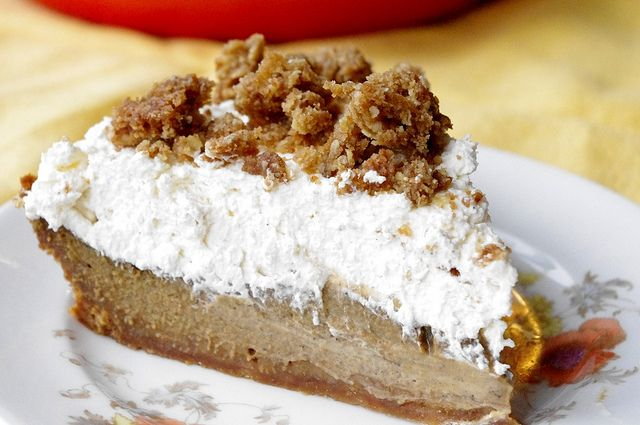 Pumpkin Pie With Cinnamon Crunch And Bourbon-Maple Whipped Cream ...